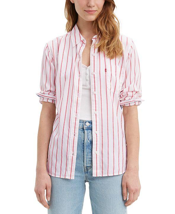 Levi's Ultimate Boyfriend Striped Cotton Shirt