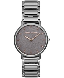 Women's Major Gunmetal Gray Stainless Steel Bracelet Watch 35mm