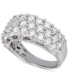 Diamond Triple Row Band (2-1/2 ct. t.w.) in 14k White Gold