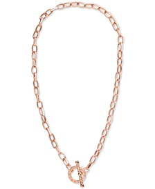 """Crystal Link 16-1/4"""" Toggle Necklace"""