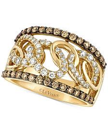 Le Vian Chocolatier® Diamond Chain Link Statement Ring (1 ct. t.w.) in 14k Gold