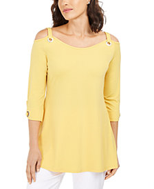 JM Collection Grommet Cold-Shoulder Tunic, Created for Macy's