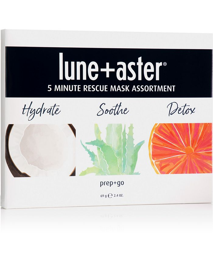 Lune+Aster - Lune+Aster 3-Pc. 5 Minute Rescue Mask Assortment Set
