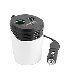 Wagan Travelcharge Powercup 6.2 DC Car Charger Adapter with 4 USB Port