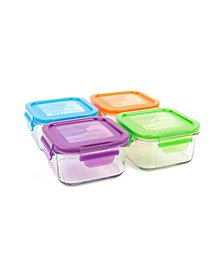 Lunch Cube 4 Pack - 16 Oz./480 ml Food Storage