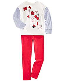 Little Girls 2-Pc. Minnie Mouse Sweatshirt & Leggings Set
