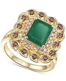 Costa Smeralda Emerald (1-5/8 ct. t.w.) & Diamond (5/8 ct. t.w.) Ring in 14k Gold