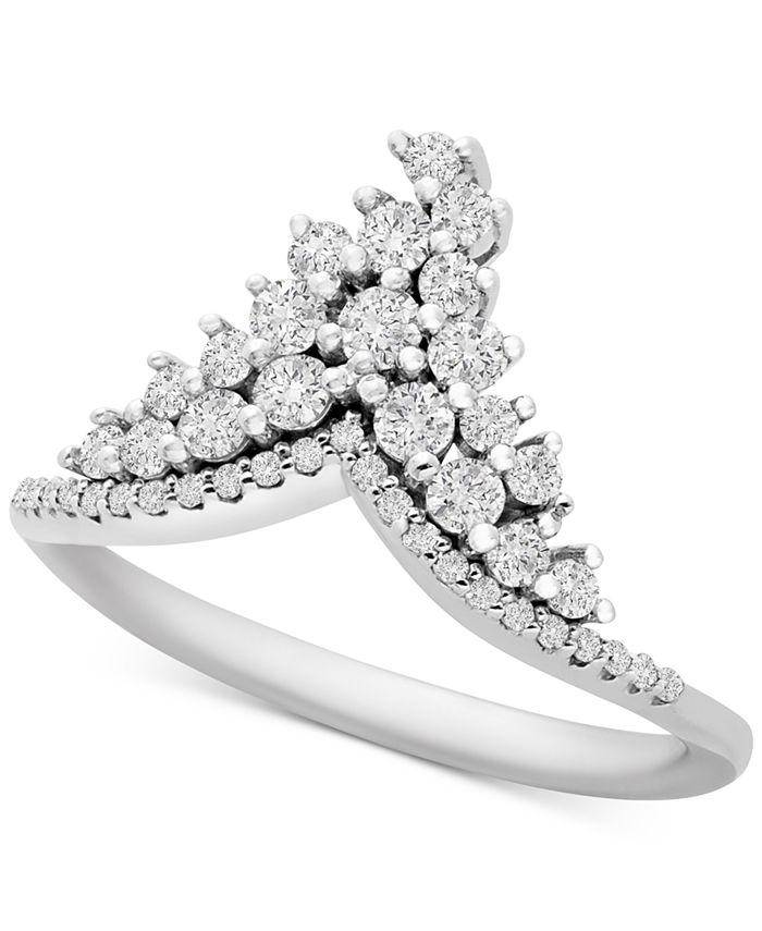 Macy's - Diamond Tiara Ring (1/2 ct. t.w.) in 10k White Gold
