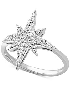 Diamond Starburst Statement Ring (1/4 ct. t.w.) in Sterling Silver