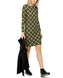 Plaid T-Shirt Dress, Regular & Petite