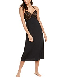 INC Lace Long Chemise Nightgown, Created for Macy's