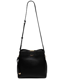 Dukes Place Medium Pebble Leather Compartment Crossbody