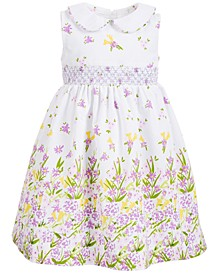 Toddler Girls Smocked Floral-Print Dress