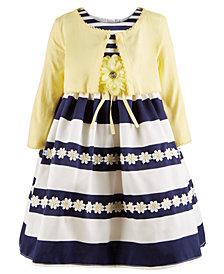 Blueberi Boulevard Little Girls 2-Pc. Cardigan & Sunflower Dress Set