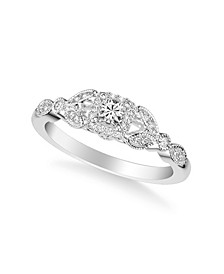 Diamond Princess Engagement Ring (3/8 ct. t.w.) in 14k Gold, White Gold or Rose Gold