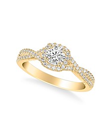 Diamond Twist Engagement Ring (7/8 ct. t.w.) in 14k Yellow, White or Rose Gold