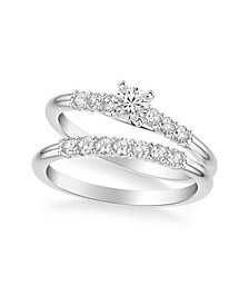 Diamond Twist Bridal Set (5/8 ct. t.w.) in 14k White, Yellow or Rose Gold