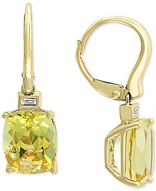 EFFY® Lemon Quartz (5-1/3 ct. t.w.) & Diamond (1/20 ct. t.w.) Drop Earrings in 14k Gold
