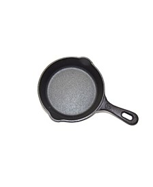 "6.5"" Seasoned Cast Iron Round Skillet"