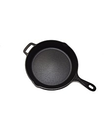 "10.25"" Seasoned Cast Iron Round Skillet"