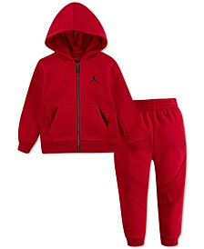 Baby Boys 2-Pc. Fleece Zip-Up Hoodie & Jogger Pants Set