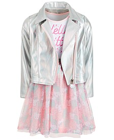 Little Girls Moto Jacket & Tutu Dress