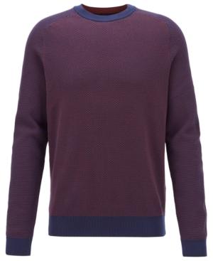Boss Men's Arrods Two-Tone Jacquard Sweater