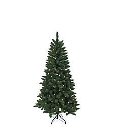 4.5-Foot Pre-Lit LED Green Pine Christmas Tree
