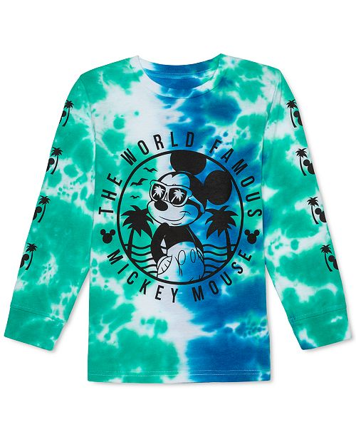 Disney Little Boys Mickey Mouse In The Shade Tie-Dye T-Shirt