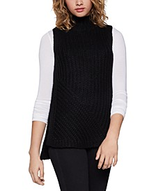 Sleeveless Turtleneck Tunic Sweater