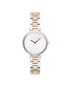 Womens Major Two Tone Stainless Steel Watch 33MM