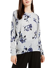Juniors' Printed Dolman-Sleeve Sweater