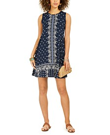 Sleeveless Printed A-Line Dress, Created For Macy's