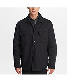 Men's Faux Sherpa Lined Shirt Jacket
