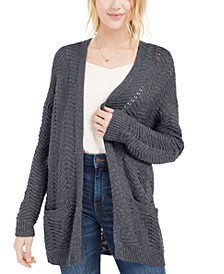 Juniors' Textured Long Cardigan