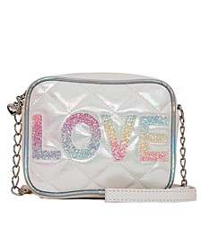 Metallic Quilted Love Crossbody