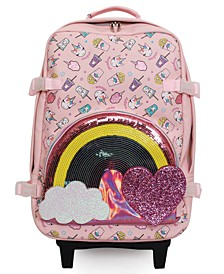 Miss Gwen Unicorn Snacks Printed Luggage
