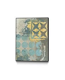 "14"" x 11"" Dots and Stars II Art Block Framed Canvas"