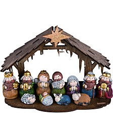 Resin Plywood Mini Nativity - Set of 12