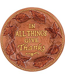 Glass Brown Harvest Fused Thanks Giving Plate