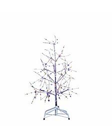 3-Foot Silver Bark Multi-colored Fairy Lights Tree