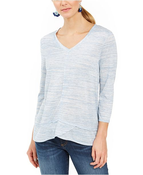 Style & Co V-Neck Top, Created for Macy's