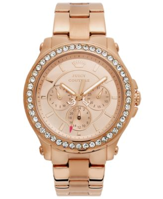 Juicy Couture Watch Womens Pedigree Rose GoldTone Stainless Steel