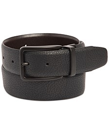 Men's Stretch Reversible Faux-Leather Belt