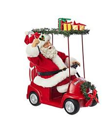 11.25-Inch Fabriché Santa Driving Golf Cart