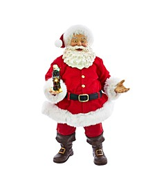 10.5-Inch Coca-Cola® Santa with LED Bottle Table Piece