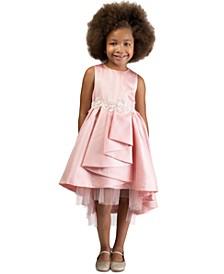 Little Girls Metallic High-Low Cascade Dress