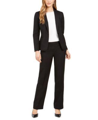 Le Suit Womens Plus Size End 1 Button Pant Suit