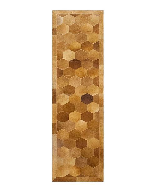 """Timeless Rug Designs CLOSEOUT! One of a Kind OOAK205 Caramel 2'9"""" x 10'1"""" Runner Rug"""