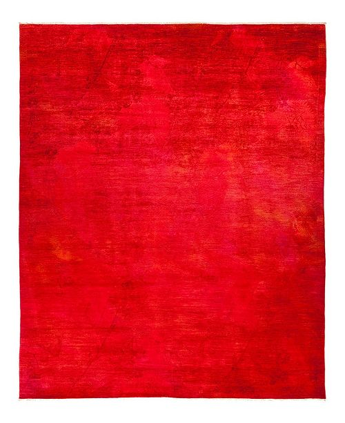 """Timeless Rug Designs CLOSEOUT! One of a Kind OOAK730 Red 9' x 12'4"""" Area Rug"""